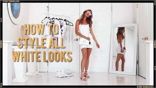 HOW TO STYLE ALL WHITE OUTFITS FOR SUMMER | FOREVER 21 SUMMER OUTFIT IDEAS