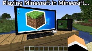 Minecraft, But It's in Minecraft