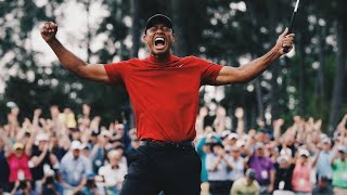 Tiger Woods' final putt of the 2019 Masters. Wins 5th Masters and sees his mom. FULL VIDEO