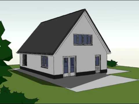 Voorbeeldplan nieuwbouw woningontwerp SPR840 3D