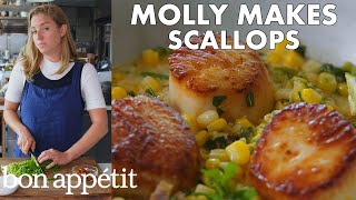 Molly Makes Scallops with Corn and Chorizo | From the Test Kitchen | Bon Appétit