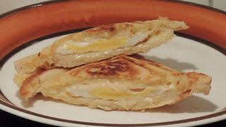 Egg and cheese toast in a sandwich maker, Melissa toaster