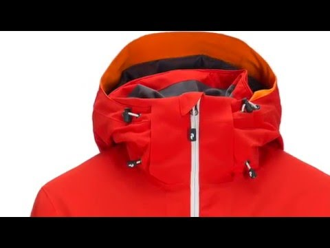 Peak Performance Maroon Mens Ski Jacket in Flame Red