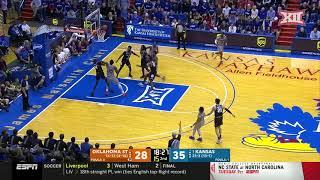 Oklahoma State at Kansas Men's Basketball Highlights