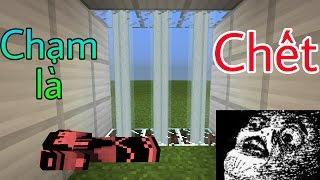 Cách làm cửa Laser đi qua là CHẾT (Đơn giản) - Minecraft PE
