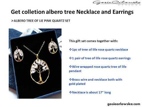 Get colletion albero tree Necklace and Earrings at gosiaorlowska