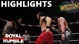 WWE 2K18 ROYAL RUMBLE MATCH 2018 PREDICTION HIGHLIGHTS