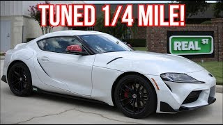 2020 Supra FIRST Tuned 1/4 Mile Test and Street Drive Ride Along!