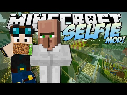 Minecraft | SELFIE MOD! (Vlogging Our Trip to FUNLAND!) | Mod Showcase