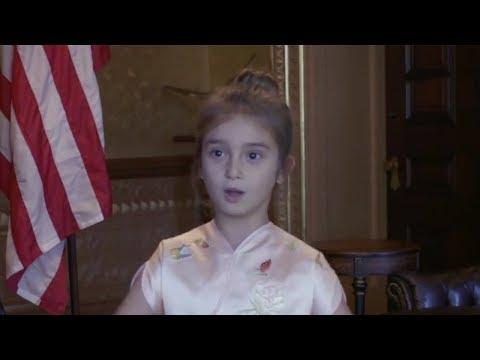 Trump shows Xi and Peng video clips of his granddaughter Arabella Kushner singing in Mandarin