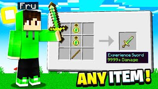 Minecraft But You Can Craft SWORDS From Any Item...