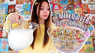 Mixing Every Single Cereal At the Grocery Store Together! 100+ Cereal!