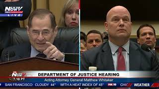 """""""YOUR 5 MINUTES IS UP"""" Matthew Whitaker Reminds Democratic Congressman"""