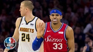 Tobias Harris makes his 76ers debut in win vs. Nuggets | NBA Highlights