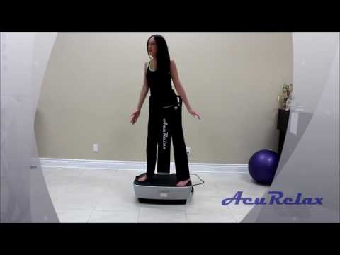 Yoga exercise video with AcuVibes Whole Body Vibration Plate
