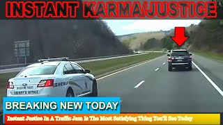 Strange News - Instant Justice In A Traffic Jam IsThe Most Satisfying Thing You'll See Today