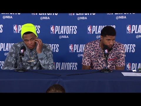 Russell Westbrook & Paul George Postgame Interview - Game 3 | Blazers vs Thunder | 2019 NBA Playoffs