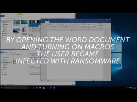 How does a computer become infected with ransomware?