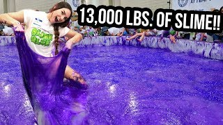 SETTING A WORLD RECORD FOR WORLD'S LARGEST SLIME! (NOT CLICKBAIT)