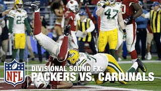 Packers vs. Cardinals Mic'd Up NFC Divisional Round Playoffs (2015) | NFL Films | Sound FX