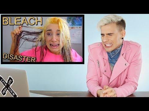 HAIRDRESSER REACTS TO MCKENZIE MARIE FRYING HER HAIR WITH BLEACH!  bradmondo