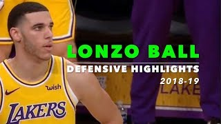Lonzo Ball Defensive Highlights | 2018-19 | Los Angeles Lakers