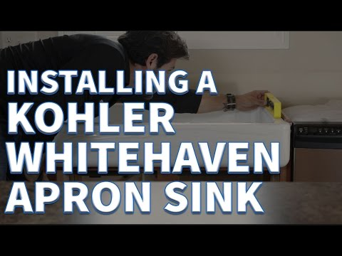 How to Install a Kohler Whitehaven Short Apron Sink - eFaucets.com