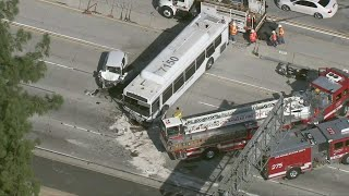 Raw Video: Bus Crash On I-405 Leaves At Least 40 Hurt, 5 Seriously