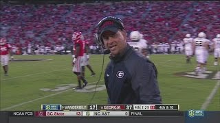 Jeremy Pruitt coaching late in Vandy game