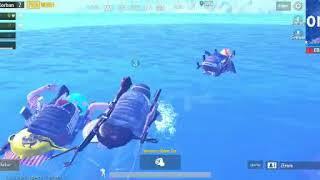 WHO the WIN!!! Last zone PUBG MOBILE in the river