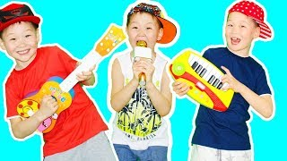 Damir Pretend to Play a Talent Show with Musical Instruments | Video for Kids