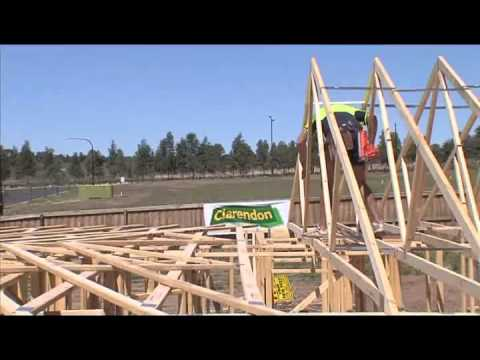 Safe Erection Of Roof Trusses Youtube