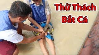 Lamtv - Thử Thách Bắt Cá và Chơi Bóng Dưới Bùn | Đấu Trường Bùn Suối Nước Nóng Núi Thần Tài