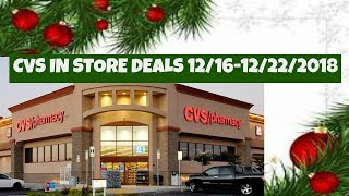 CVS IN STORE DEALS 12/16-12/22/2018   I DID NOT FORGET YOU GUYS!!