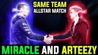 Miracle And Arteezy - As Team Allstar Match Between High MMR Dota 2