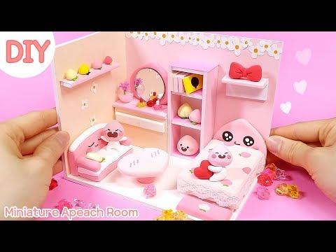 [Miniature Room] 복숭아가 한가득! 피치피치한 어피치 방 만들기 | 희꽁 만들기