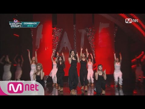 4MINUTE(포미닛) - Hate Comeback Stage M COUNTDOWN 160204 EP.459