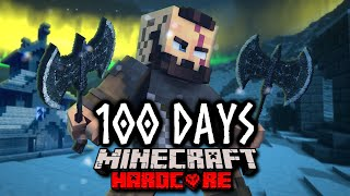 I Spent 100 Days As A Viking In Minecraft! Here's What Happened..