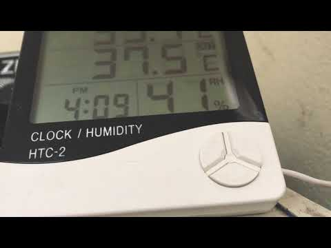 video Digital Temperature and Humidity Meter (with Clock) – HTC 1/2 Brand