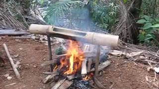 How To Boil Water And Cook Rice In Bamboo Jungle Survival 101