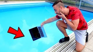 ViralBrothers - MACBOOK PRO IN OUR SWIMMING POOL PRANK GONE WRONG!! - Zdroj: