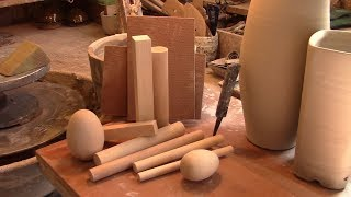 How to use 10 simple wooden tools for forming and finishing your pots!