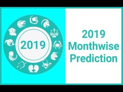 2019 Monthwise Predictions