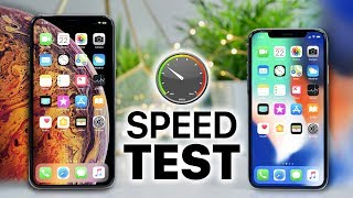 iPhone XS Max vs iPhone X SPEED Test!