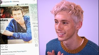 Troye Sivan reacts to his first ever Instagram post   Behind The Gram