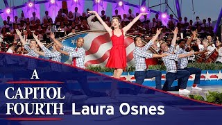Laura Osnes performs a medley of patriotic songs on the 2017 A Capitol Fourth