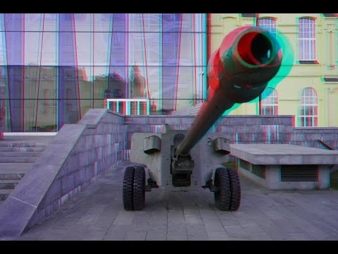 Tanks and Guns in 3D !Historical Military Equipment . 3D VIDEO