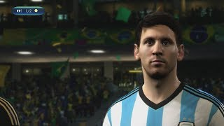 2014 FIFA World Cup Brazil - Brazil vs Argentina - [Online World Cup Gameplay]
