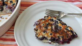 Blueberry Clafoutis Recipe - Fresh Blueberry Baked Custard Dessert