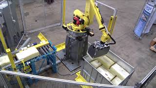 Sage Automation - Fanuc Robot Automated Rubber Bale Stacker